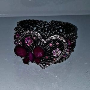 Women's Purple Butterfly Bracelet Cuff